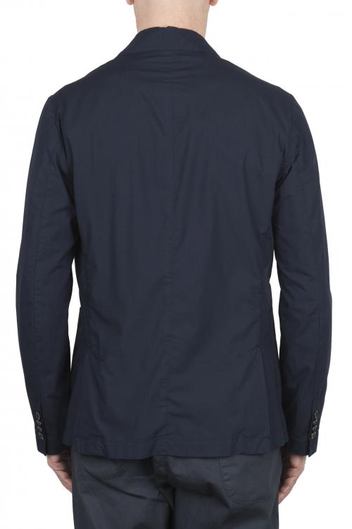 SBU 02834_2020SS Chaqueta deportiva de algodón azul marino sin forro 01