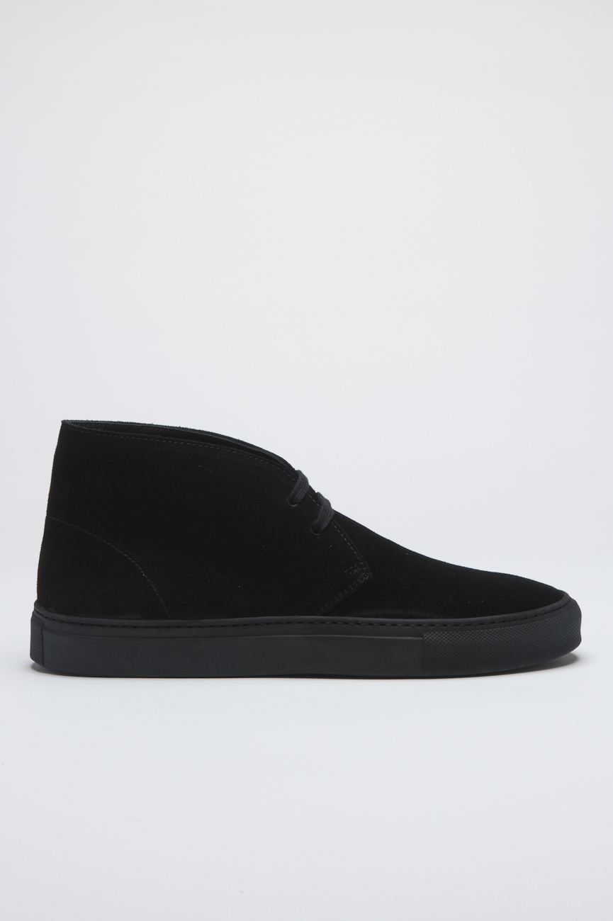 SBU - Strategic Business Unit - Original Mid Top Black Suede Leather Chukka Boots
