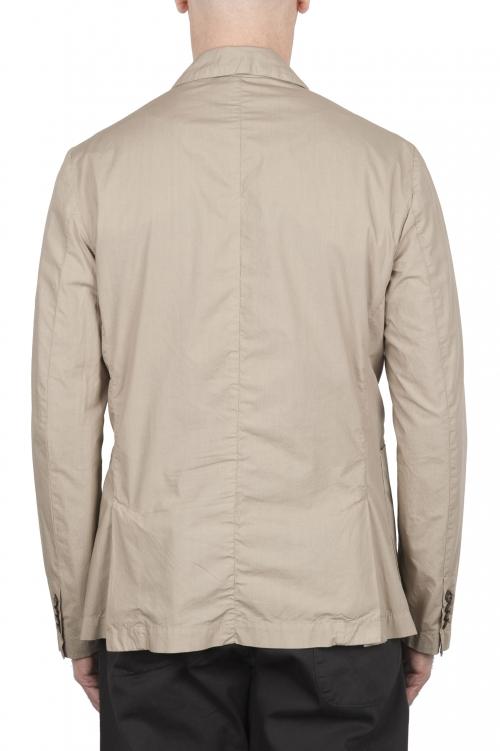SBU 02835_2020SS Chaqueta deportiva de algodón beige sin forro 01