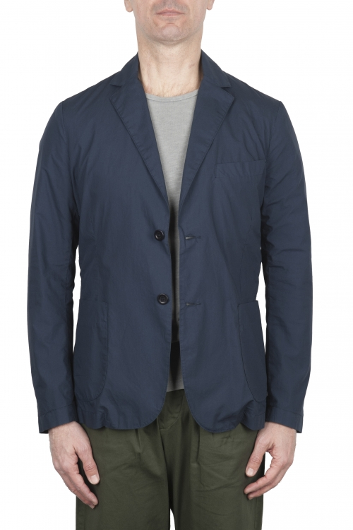 SBU 02836_2020SS Blue cotton sport jacket unconstructed and unlined 01