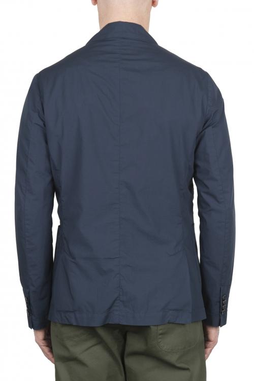 SBU 02836_2020SS Veste de sport en coton bleu non construite ni doublée 01