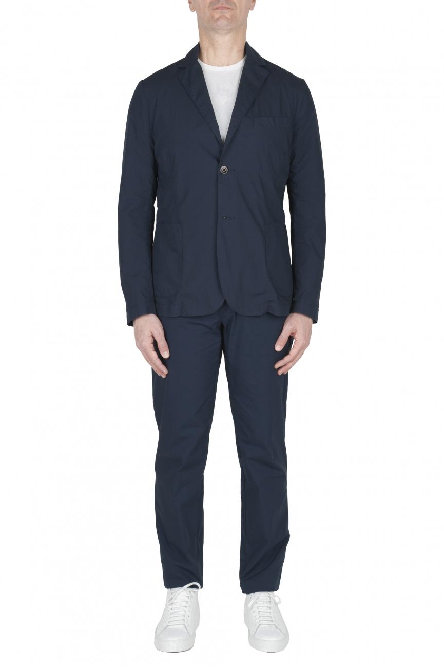SBU 02837_2020SS Blazer et pantalon de sport en coton bleu marine 01