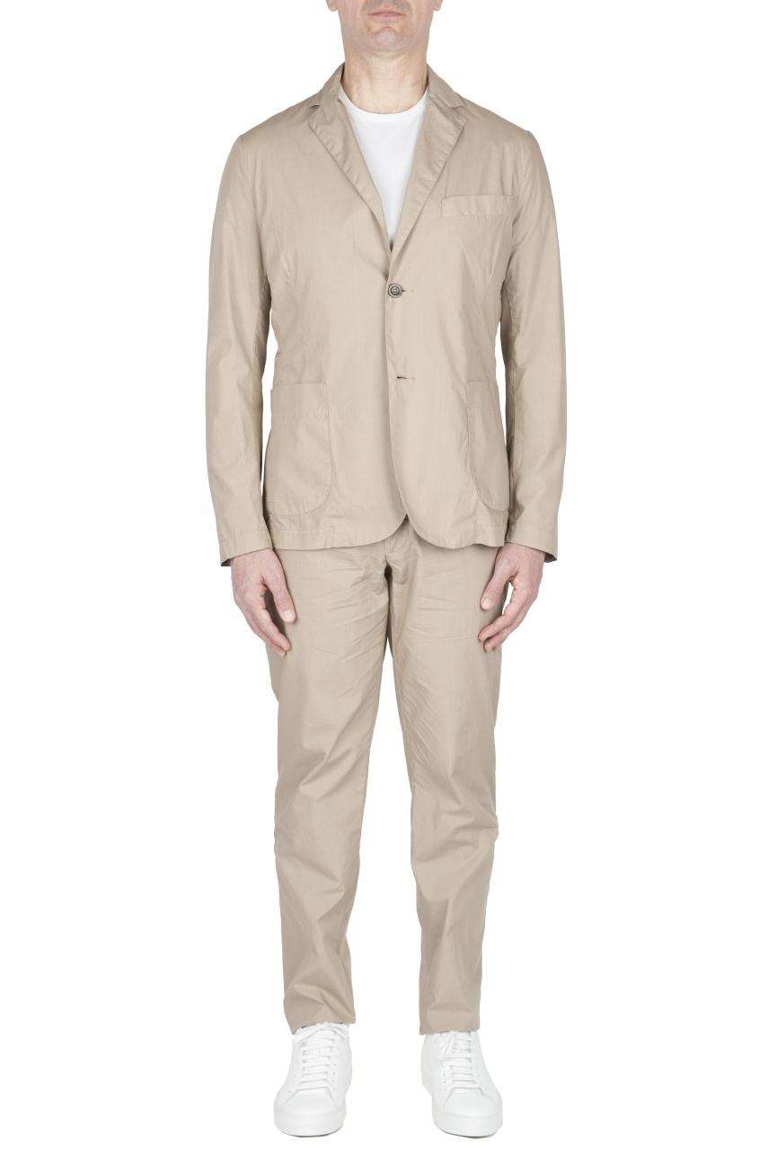 SBU 02838_2020SS Abito in cotone completo di giacca e pantalone beige 01