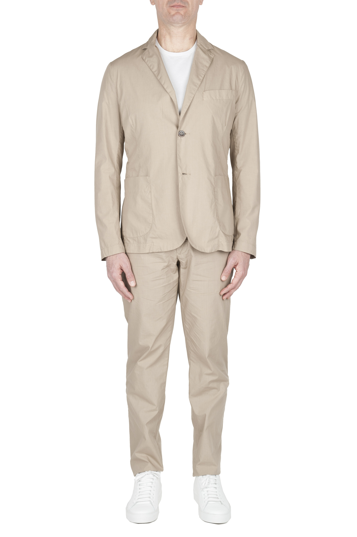 SBU 02838_2020SS Blazer et pantalon de sport en coton beige 01
