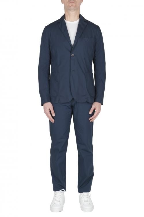 SBU 02840_2020SS Blue cotton sport suit blazer and trouser 01