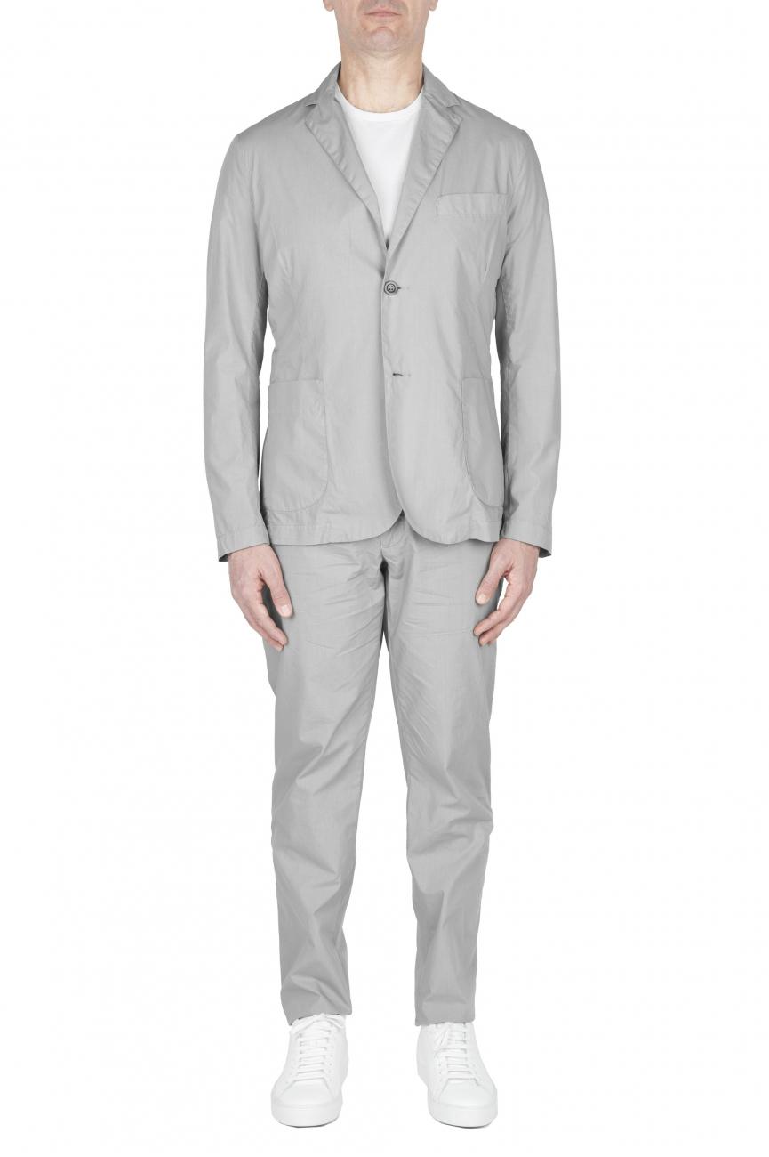 SBU 02841_2020SS Chaqueta y pantalón de traje deportivo de algodón gris claro 04