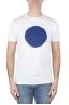 SBU 02844_2020SS Shirt classique bleu et blanche col rond manches courtes en coton graphique imprimé 01