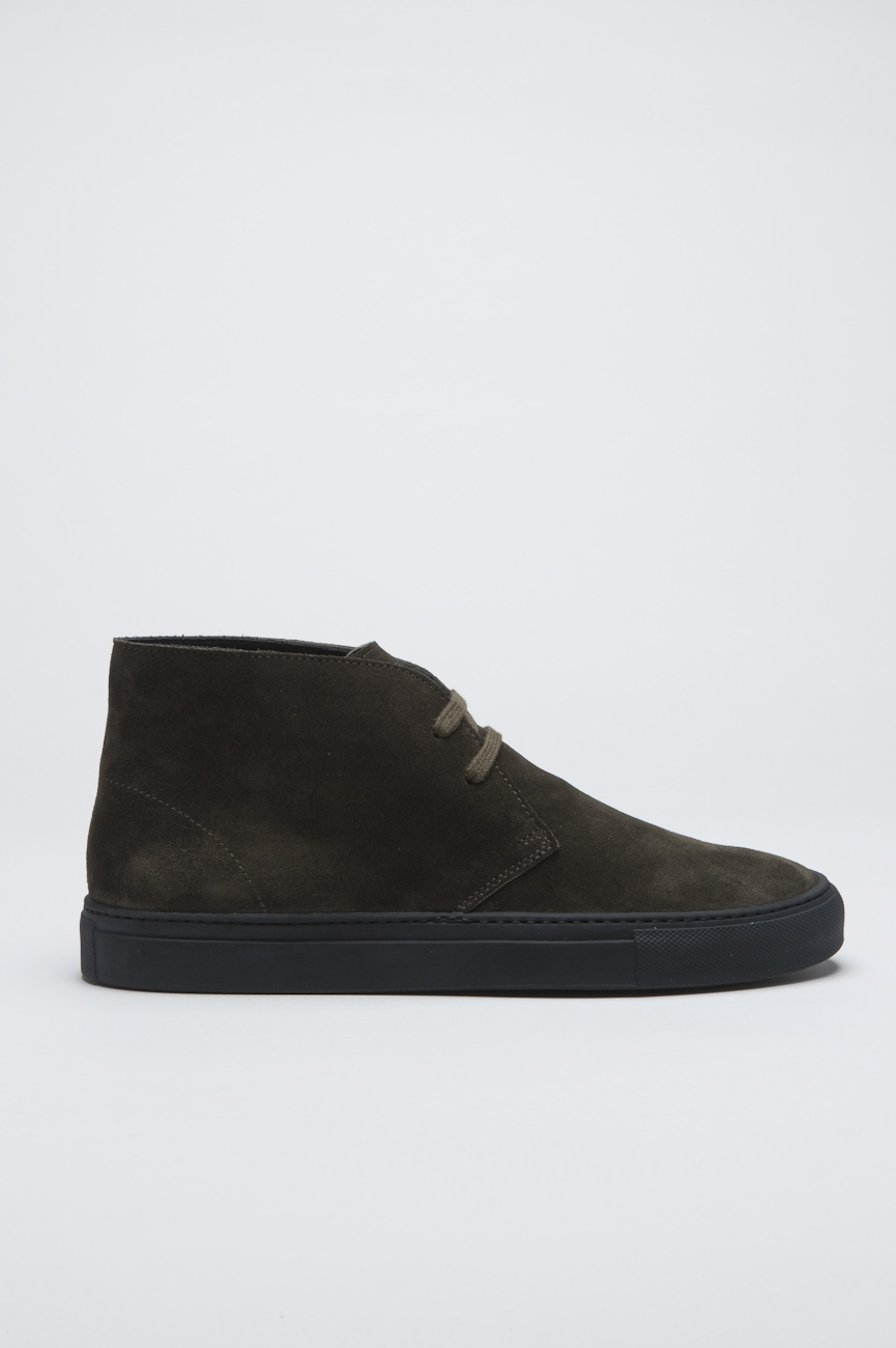 SBU - Strategic Business Unit - Original Mid Top Green Suede Leather Chukka Boots