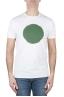 SBU 02847_2020SS T-shirt girocollo classica a maniche corte in cotone grafica stampata verde e bianca 06