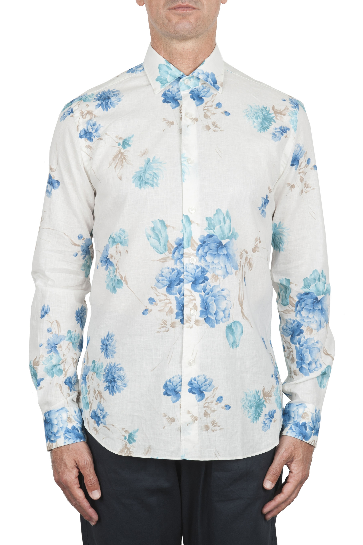 SBU 02850_2020SS Camicia in cotone e lino stampa floreale 01