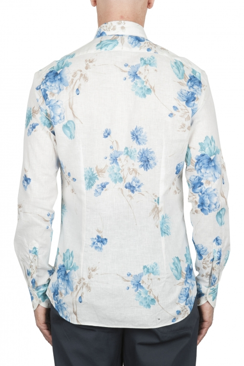 SBU 02850_2020SS Classic cotton and linen floral shirt 01