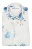 SBU 02850_2020SS Camisa clásica de algodón y lino floral 06