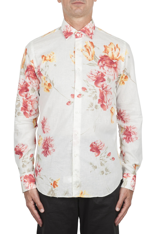 SBU 02851_2020SS Chemise à fleurs classique en coton et lin 01