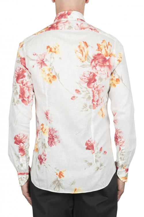 SBU 02851_2020SS Classic cotton and linen floral shirt 01