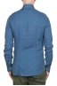 SBU 02855_2020SS Camisa clásica de lino índigo 05